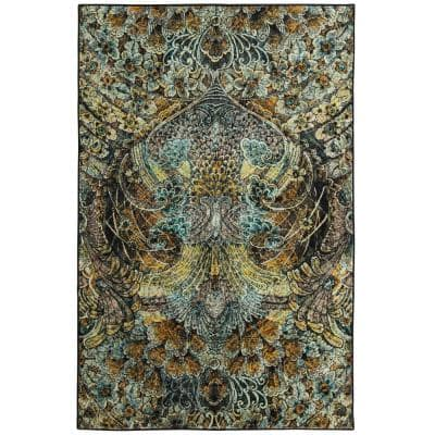 Lova Gold 5 ft. x 8 ft. Abstract Area Rug