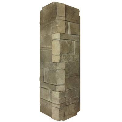 16 in. x 5.88 in. Dry Stacked Stone Corner Vinyl Siding in Brownstone (5-Case)