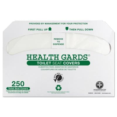 Health Gards Green Seal Recycled Toilet Seat Covers, White, 250/Pack, 4 Packs/Carton