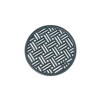 A1HC Set of 4 Garden Stepping Stone, Black 12 in. x 12 in. Rubber, Outdoor Decorative Tray Step Mat