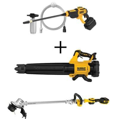 20-Volt Max 550 PSI, 1.0 GPM Cold Water Cordless Electric Power Cleaner w/20V String Trimmer & 20-Volt Blower(Tool Only)