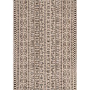 Jamie Southwestern Brown 5 ft. x 8 ft.  Indoor/Outdoor Area Rug