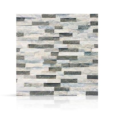 6 in. x 6 in. Sierra Blue Natural Stacked Stone Veneer Siding Sample Swatch