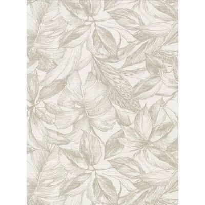 Simone Cream Tropical Cream Wallpaper Sample