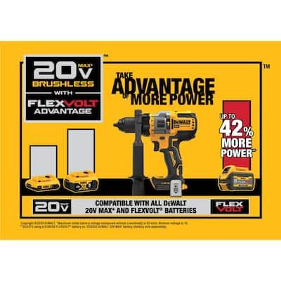 20-Volt MAX Cordless Brushless 1/2 in. Hammer Drill/Driver with FLEXVOLT ADVANTAGE with (1) FLEXVOLT 6.0Ah Battery