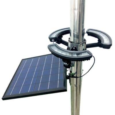 Solar Black LED Flag Pole Light 1890 Lumens 6000K