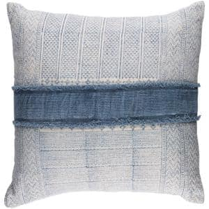Culpeper Navy Solid Polyester 30 In. x 30 In. Throw Pillow