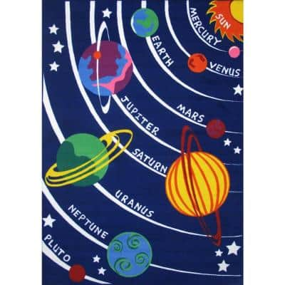 Fun Time Solar System Multi Colored 8 ft. x 11 ft. Area Rug