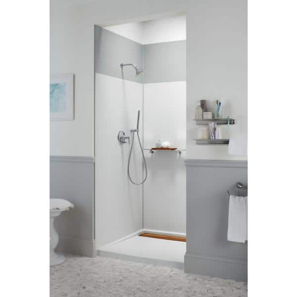 KOHLER - Moxie 1-Spray 5 in. Single Wall Mount Fixed Shower Head in Polished Chrome