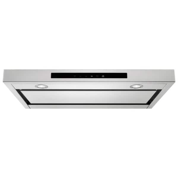 Kitchenaid 30 In Low Profile Under Cabinet Ventilation Range Hood With Light In Stainless Steel Kvub400gss The Home Depot