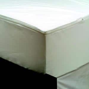 Vinyl Free and Hypoallergenic King Maximum Allergy and Bedbug Waterproof Zippered Mattress Protector
