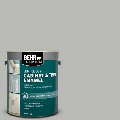 1 gal. #PPU18-11 Classic Silver Semi-Gloss Enamel Interior Cabinet and Trim Paint