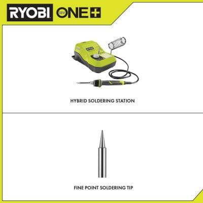 ONE+ 18V Hybrid Soldering Station (Tool-Only) with extra Fine Point Soldering Tip