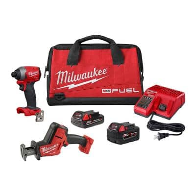 M18 FUEL 18-Volt Lithium-Ion Brushless Cordless HACKZALL Reciprocating Saw and Impact Driver Combo Kit (2-Tool)