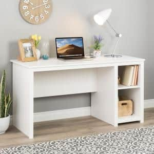 Sonoma 56 in. Rectangular White Computer Desk with Adjustable Shelf