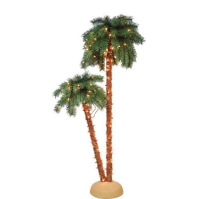 3.5 ft. to 6 ft. Palm Tree 175 UL Clear Lights