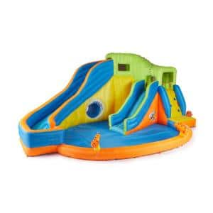 Multi Polyester Pipeline Twist Kids Inflatable Outdoor Water Pool Aqua Park and Slides