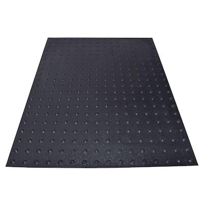 SSTD PowerBond 36 in. x 4 ft. Black ADA Warning Detectable Tile (Peel and Stick)