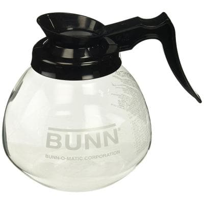 12-Cup Commercial Glass Decanter, Black Handle, 42400.0101