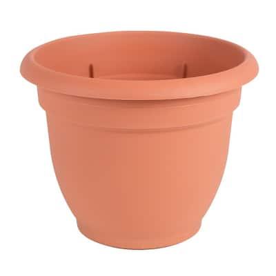 Ariana 13 in. Terra Cotta Plastic Self-Watering Planter