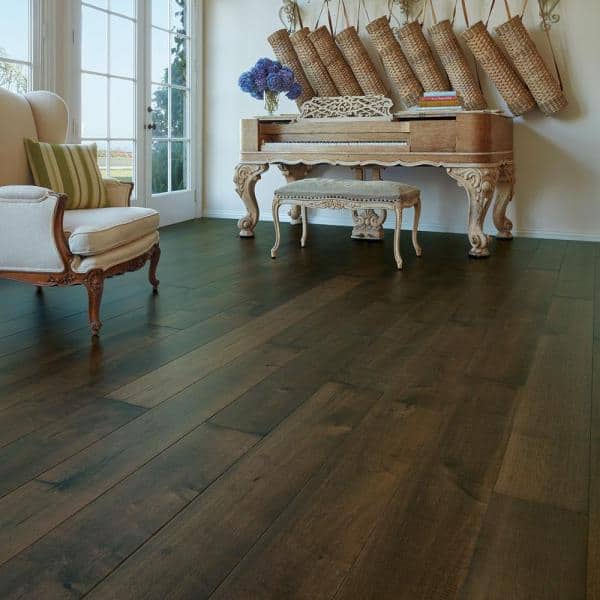 Malibu Wide Plank Maple Hermosa 3 8 In Thick X 6 1 2 In Wide X Varying Length Engineered Click Hardwood Flooring 23 64 Sq Ft Case Hdmpcl237ef The Home Depot