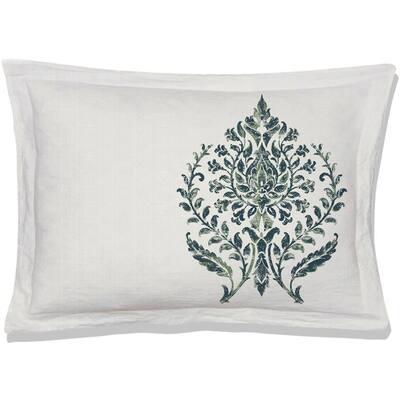 Trellis Green Queen Pillow Cover (Set of 2)
