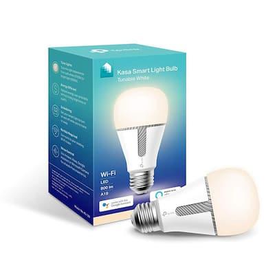 60-Watt Equivalent 10-Watt A19 - E26 Smart LED Light Bulb 2700/5000K in Soft White/Daylight