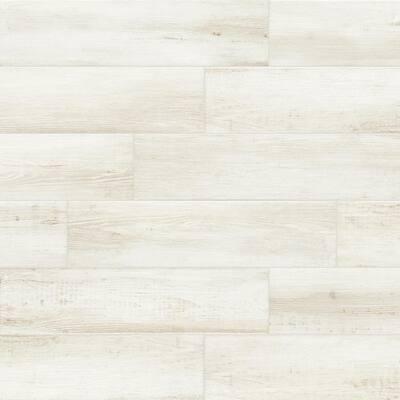 White Wood Look Tile Flooring