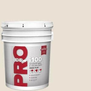 Behr Pro 5 Gal 730c 1 White Clay Dead Flat Interior Paint Pr10505 The Home Depot