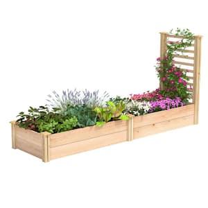 96 in. L x 24 in. W x 11 in. H Cedar Raised Garden Bed with Trellis