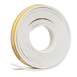3/8 in. x 17 ft. White Ribbed EPDM Cellular Rubber Weather-Seal Tape
