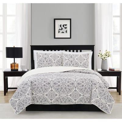 Gramercy 2-Piece Blue Polyester Twin/Twin XL Quilt Set