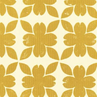 Sunbrella Floret Honey Outdoor Fabric by the Yard