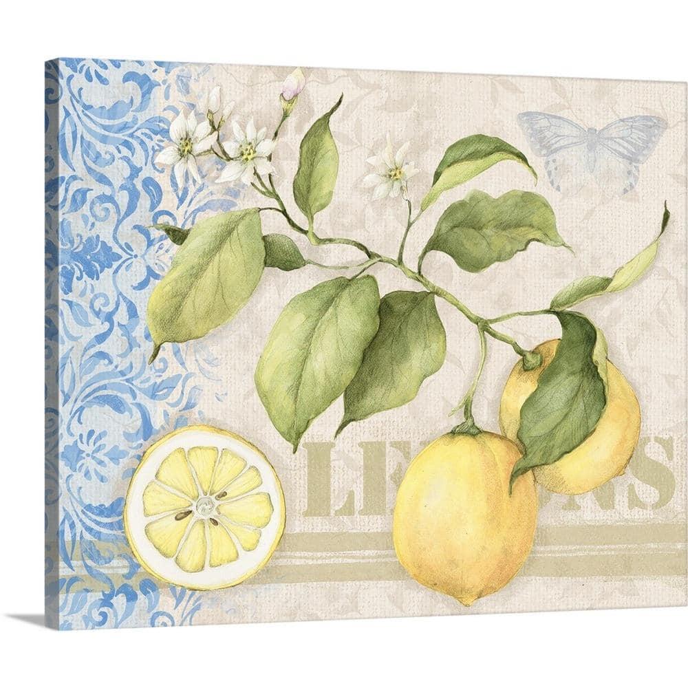 Greatbigcanvas Lemon By Susan Winget Canvas Wall Art 1983367 24 30x24 The Home Depot