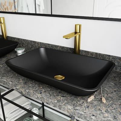 Gotham Single-Handle Vessel Sink Faucet in Matte Gold