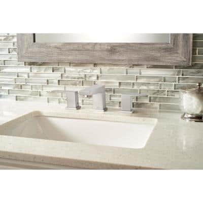 Silver Canvas Interlocking 12 in. x 12 in. x 8 mm Glass Mesh-Mounted Mosaic Tile (10 sq. ft. / case)