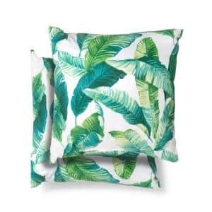 18 in. x 18 in. Hanalei Square Outdoor Throw Pillow (2 Pack)