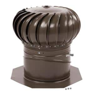 12 in. Weathered Wood Galvanized Internally Braced Dual-Bearing Wind Turbine