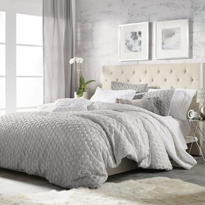 Ombre 3-Piece Grey Full/Queen Comforter Set