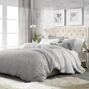 Ombre 3-Piece Grey King Comforter Set