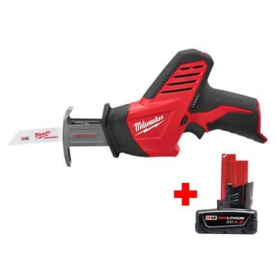 M12 12-Volt Lithium-Ion HACKZALL Cordless Reciprocating Saw with 4.0 Ah M12 Battery