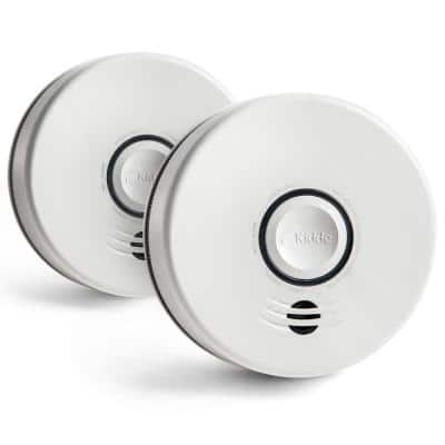 10 Year Worry-Free Sealed Battery Smoke Detector with Intelligent and Wire-Free Voice Interconnect (2-Pack)