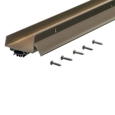 1.75 in. x 36 in. Bronze U-Shaped Door Bottom with Drip Cap