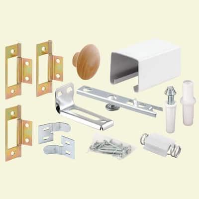 24 in. Bi-Fold Closet Door Track Kit