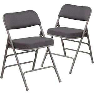 Gray Metal Folding Chair (2-Pack)