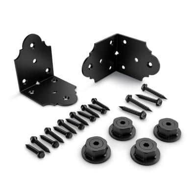 Laredo Sunset 4 in. x 4 in. 12-Guage Galvanized Steel Rafter Clip Angle Brackets (2-Pack)
