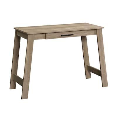 44 in. Rectangular Summer Oak 1 Drawer Writing Desk with Built-In Storage