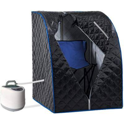 1-Person Electric Heater Portable Steam Sauna Spa Personal Folding Saunas Tent with Foldable Chair and Remote Control 2L