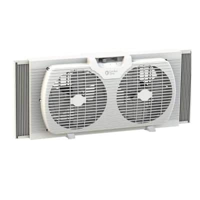 9 in. Twin Window Fan with Manually Reversible Airflow Control