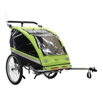 C23 Double Child 3-in-1 Bicycle Trailer, Jogger, Stroller